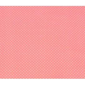 tissu coton rose pois 2mm largeur 150cm x 50cm