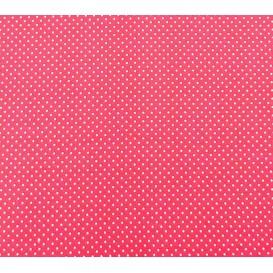tissu coton fuchsia pois 2mm largeur 150cm x 50cm
