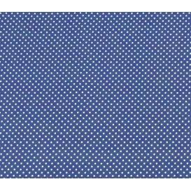 tissu coton bleu roi pois 2mm largeur 150cm x 50cm