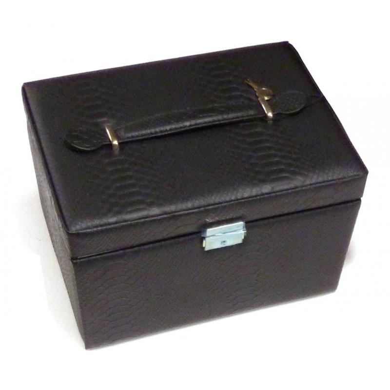 Bo te couture noire 26 5x19 5x16cm for Boite a couture a decorer
