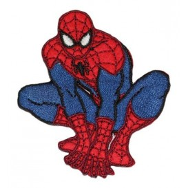 écusson spider-man assis thermocollant
