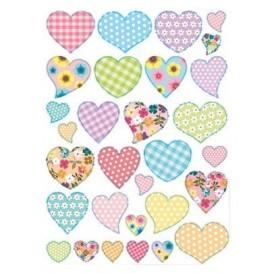 gommettes coeurs tendance 60 pièces