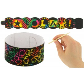 kit 4 bracelets à gratter