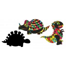 kit 5 dinosaures à gratter