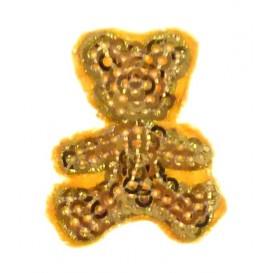 emblème paillettes ourson à coudre