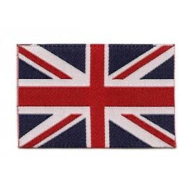 écusson drapeau anglais 6x4cm thermocollant