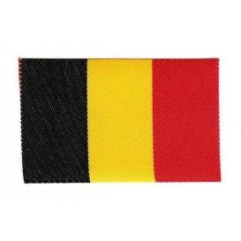 écusson drapeau belge 6x4cm thermocollant