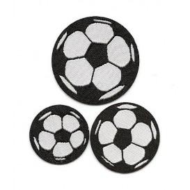 3 écussons ballons de foot thermocollant