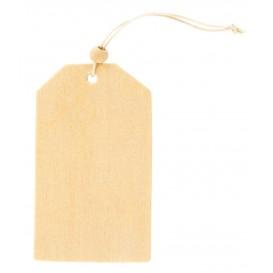 6 tags rectangulaires 5x8,5cm en bois