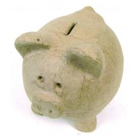 tirelire cochon papier mâché décopatch 12cm