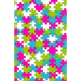 feuille decopatch puzzle multicolore