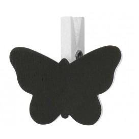 4 pinces à linge ardoise papillon