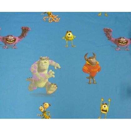tissu coton disney monstres&Cie largeur 140cm x 50cm