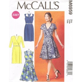 patron robes, ceinture McCall's M6959