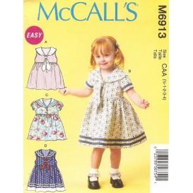 patron robes et attaches jeune enfant McCall's M6913