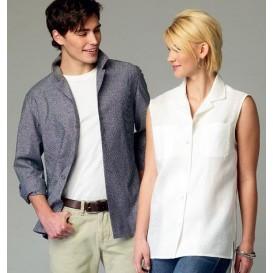 patron chemises femme/homme McCall's M6932