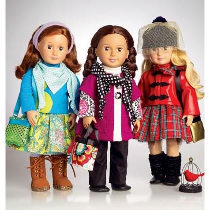 patron vêtements de poupée 45cm McCall's M7006