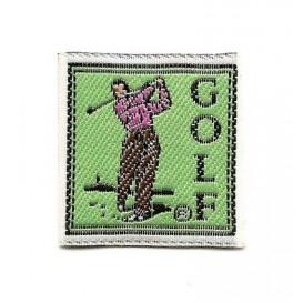 écusson étiquette golf à coudre
