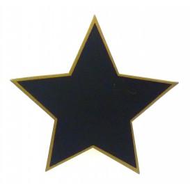 ardoise avec trépied étoile liseré or 15cm