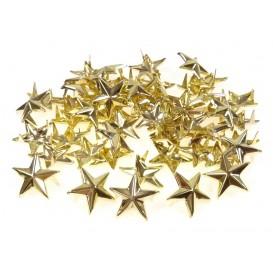 50 étoiles clous or à piquer 15mm