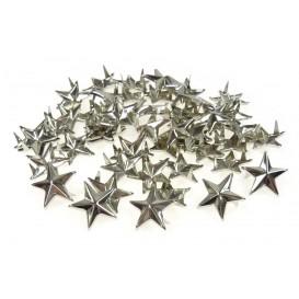 50 étoiles clous argent à piquer 15mm