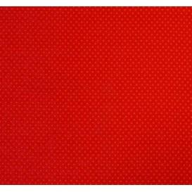 tissu stenzo coton rouge pois 2mm largeur 147cm x 50cm