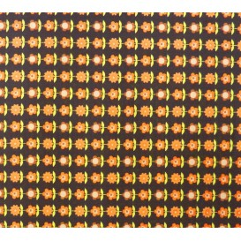 tissu stenzo popeline marron à fleurs largeur 155cm x 50cm n°2