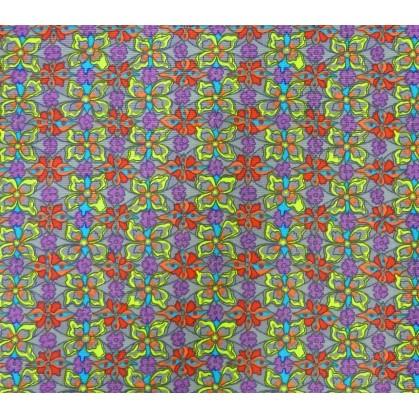 tissu stenzo velours gris fleurs largeur 147cm x 50cm