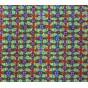 tissu stenzo velours kaki fleurs largeur 147cm x 50cm