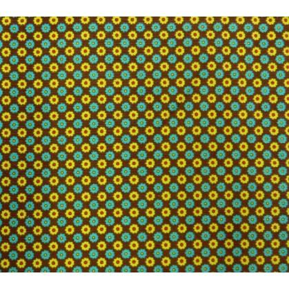 tissu stenzo velours marron à fleurs largeur 145cm x 50cm