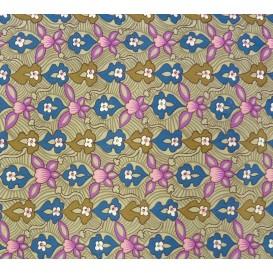 tissu stenzo velours gris clair fleurs largeur 147cm x 50cm