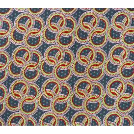 tissu stenzo velours gris ronds largeur 147cm x 50cm