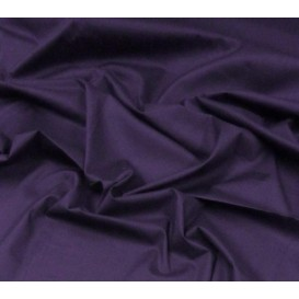 tissu popeline stretch uni prune largeur 143cm x 50cm