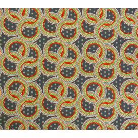 tissu stenzo popeline gris ronds largeur 150cm x 50cm n°2