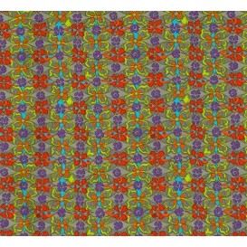 tissu stenzo popeline gris fleurs largeur 150cm x 50cm