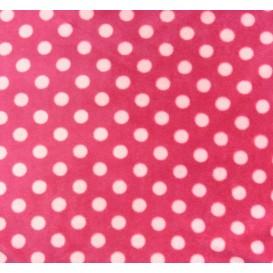tissu doudou rose à pois largeur 145cm x 50cm