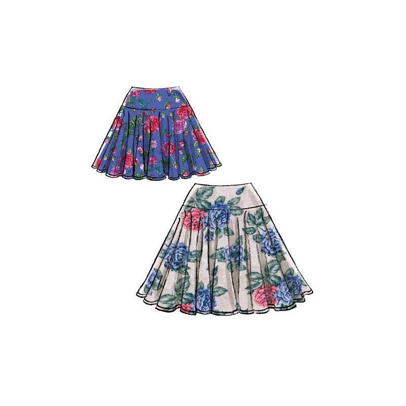 Patrón de faldas joven M7022 de Mccall de mujer EWYDHI29