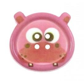 bouton fantaisie sbottonati hippopotame 20mm