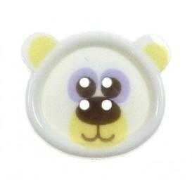 bouton fantaisie sbottonati ours blanc 20mm