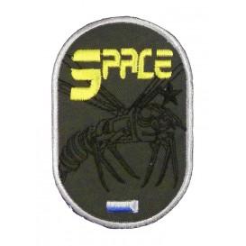 écusson space guêpe mécanique thermocollant