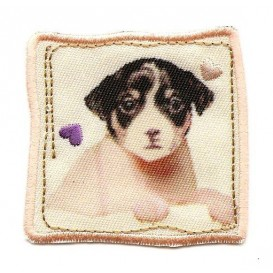 écusson chiot tendresse thermocollant