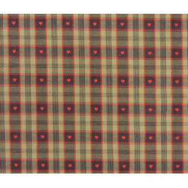 tissu coton davos noir/rouge largeur 160cm x 50cm
