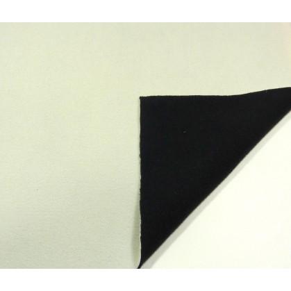 coupon 0,70m polaire bicolore écru/noir