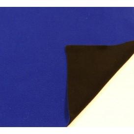 tissu polaire bicolore bleu/noir largeur 147cm x 50cm