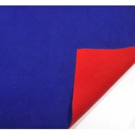tissu polaire bicolore bleu/rouge largeur 147cm x 50cm