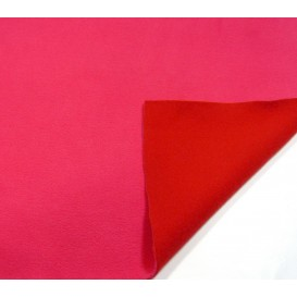 tissu polaire bicolore rose/rouge largeur 147cm x 50cm