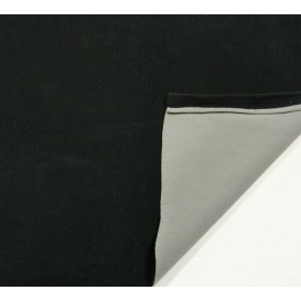 tissu polaire bicolore noir/gris largeur 147cm x 50cm
