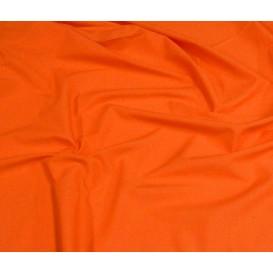 tissu popeline uni orange largeur 140cm x 50cm