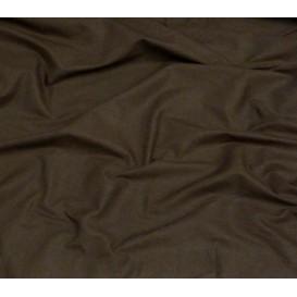 tissu popeline uni chocolat largeur 140cm x 50cm