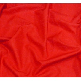 tissu popeline uni rouge largeur 140cm x 50cm